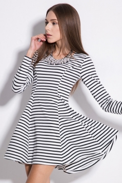 Classic Long Sleeve String Strap Dress