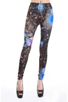 Blue Galaxy Explosure Leggings