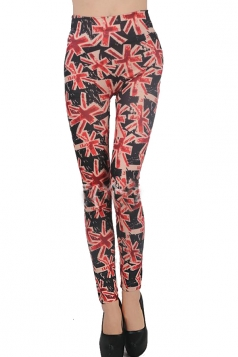 Uk Flag Print Leggings