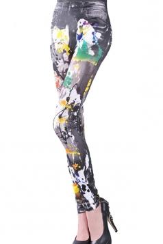 Pigment Print Denim Look Leggings