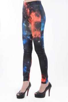 Red Galaxy Cloud Leggings
