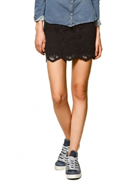 Sexy Printing Lace Skirt