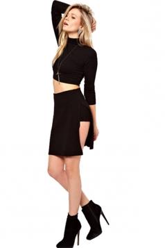 Side Slit Skort Skirt