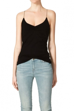 Black Going Out Ladies Pleated Camisole Top
