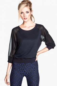 Long Sleeve Semilucent Sheer Top