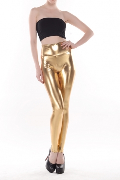 Sexy Ladies Slimming Faux Leather Leggings