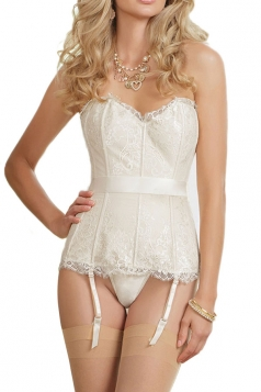 White Lace Sexy Ladies Slim Strings Bridal Corsets