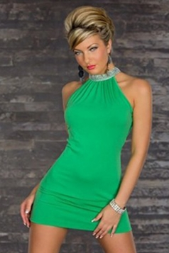 Stylish Halter Womens Sleeveless Slimming Clubwear Dress