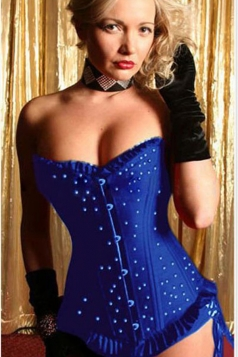 Sexy Womens Jewel Attractive Over Bust Corset
