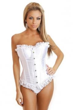 White Sexy Womens Lace Attractive Bridal Corset
