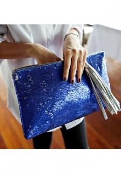 Pretty Womens Sequin Zipper Casual Clutch Bag