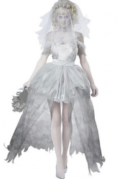 Womens Corpse Bride Halloween Costume White