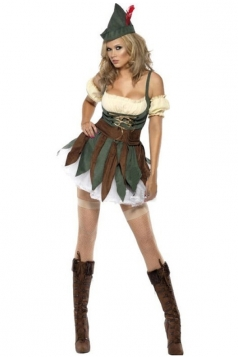 Green Sexy Robin Hood Womens Halloween Costume