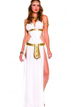 White Elegant Womens Cleopatra Halloween Costume