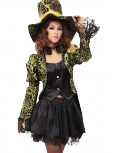 Green Pirate Captain Halloween Vampire Witch Circus Costume