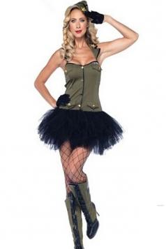 Black Sexy Military Womens Halloween Costume
