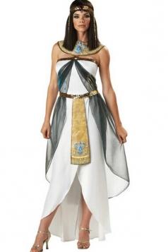 White Vintage Egyptian Womens Halloween Costume