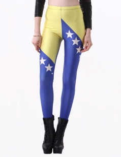 Blue Bosnia and Herzegovina Sexy Ladies World Cup Leggings