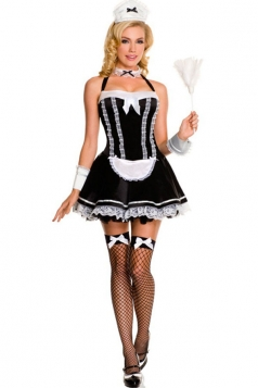 Cute French Maid Halloween Costume For Girls