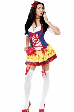 Fashion Snow White Fairytale Costume For Girls
