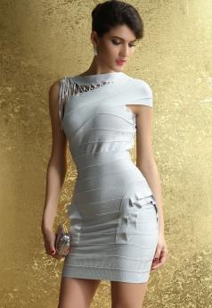 Women's Asymmetric Ruffles Leisure Bandage Dress
