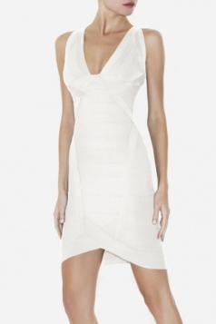Celebrity Hot-selling White Bandage Dress