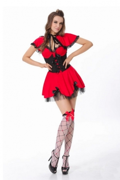 Red Cute Womens Little Red Halloween Costume