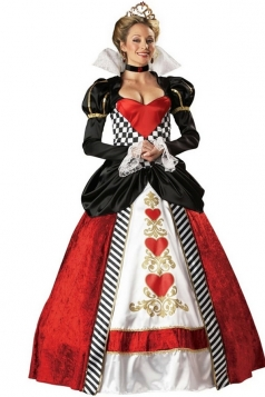 Womens Alice in Wonderland Queen of Heart Halloween Costume Red