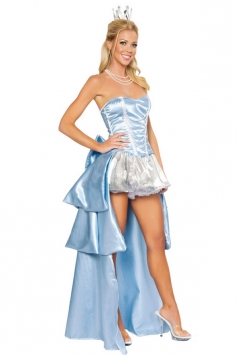 Blue Cinderella Princess Sexy Halloween Costume