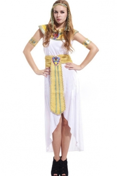 White Fancy Cleopatra Halloween Womens Costume