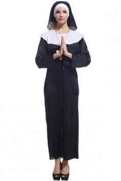 Black Classic Womens Halloween Nun Costume