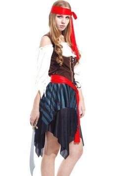 Coffee Sexy Caribbean Pirate Beer Girl Halloween Costume