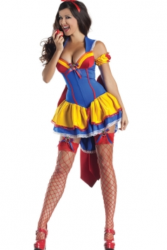 Blue Pretty Girls Snow White Fairytale Halloween Costume