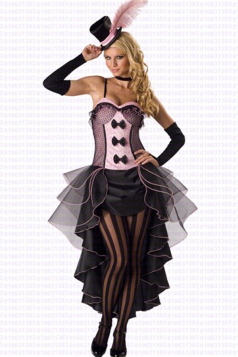 Pink Burlesque Dancer Fancy Ladies Babe Halloween Costume