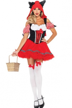 Little Red Riding Hood Wolf Dress Fairytale Costume for Ladies