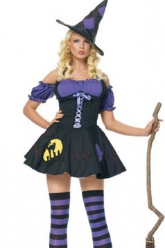 Black Fancy Ladies Halloween Witch Costume