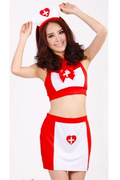 Red Sweet Girls Nurse Halloween Costume