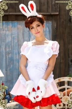 Pink Cute Girls Halloween Dress Bunny Costume