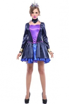 Black Elegant Womens Evil Queen Halloween Costume