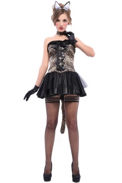 Black Sexy Cat Halloween Costume for Womens