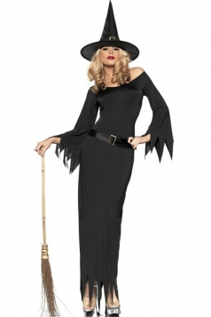 Black Womens Wicked Witch Halloween Costume