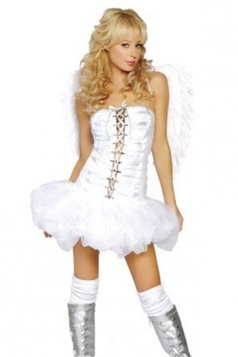 White Pretty Girls Halloween Angel Costume
