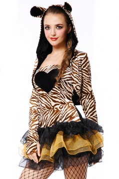 Coffee Naughty Womens Halloween Zebra Costume