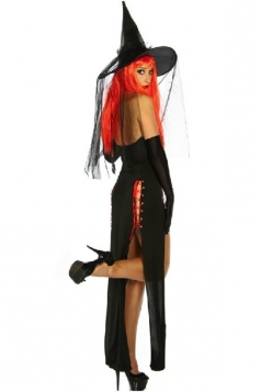 Sexy Ladies Black Ghost Witch Halloween Costume
