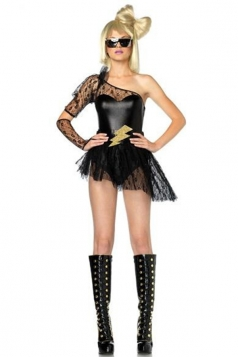 Black Sexy Lady Gaga Halloween Movie Star Costume