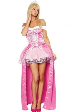 Pink Mario Peach Princess Halloween Costume Dress