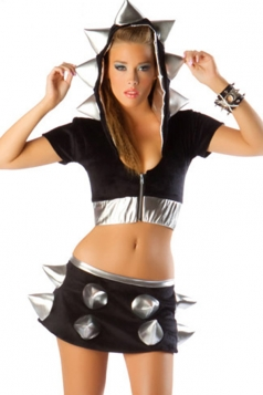 Black Sexy Warrior Women Halloween Superhero Costume