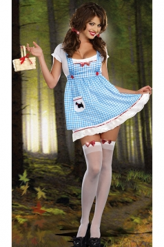 Blue Cute Girls Halloween Maid Costume