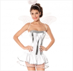 White Sweet Ladies Halloween Angel Costume