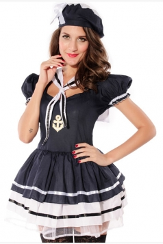 Black Sweet Halloween Sailor Costume for Womens